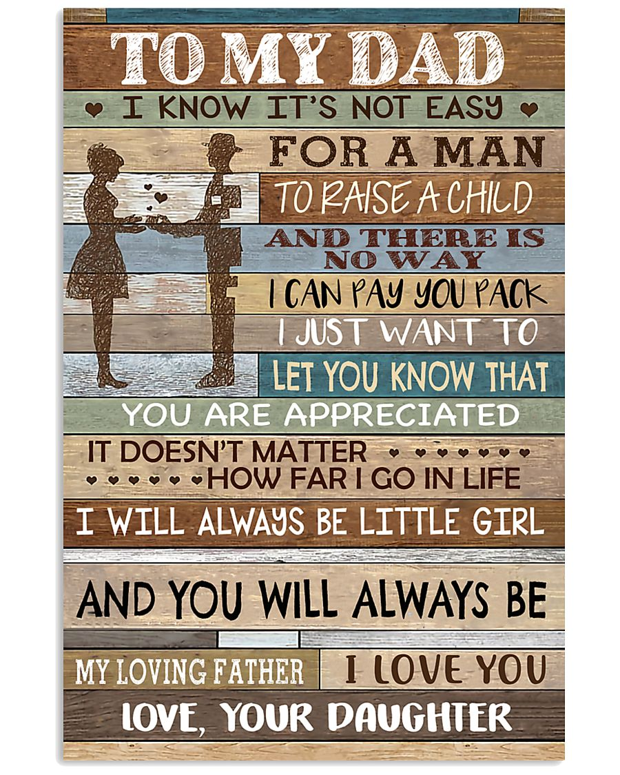 TO MY DAD - MB155 11x17 Poster