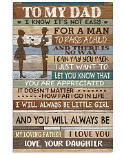 TO MY DAD - MB155 11x17 Poster front