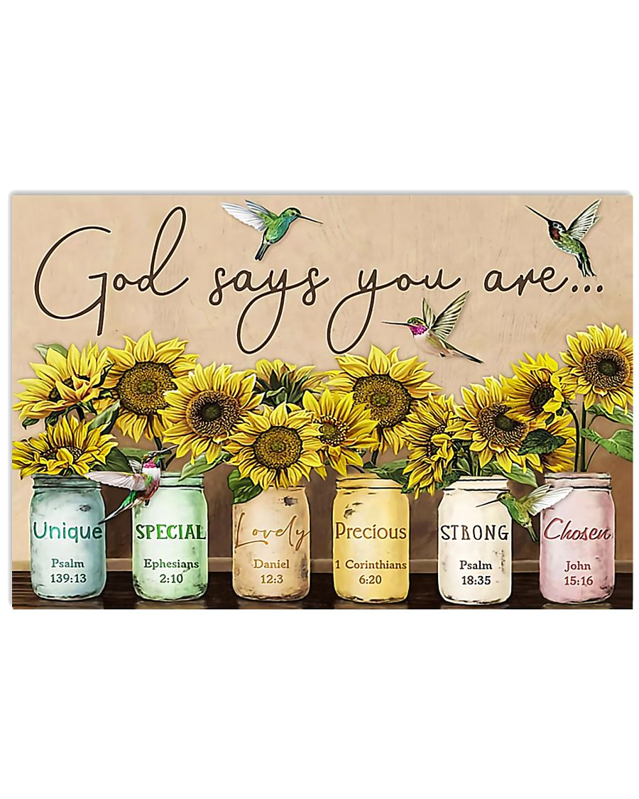 GOD SAYS YOU ARE - MB105 24x16 Poster