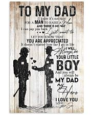 TO MY DAD - FIREFIGHTER Vertical Poster tile