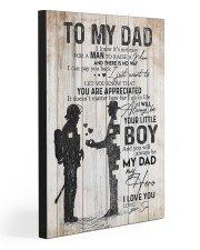 TO MY DAD - FIREFIGHTER 20x30 Gallery Wrapped Canvas Prints front