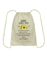 Badass Bonus Mom - MB45 Drawstring Bag thumbnail