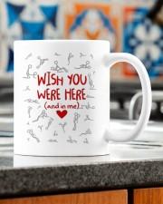 WISH YOU WERE HERE AND IN ME  Mug ceramic-mug-lifestyle-57