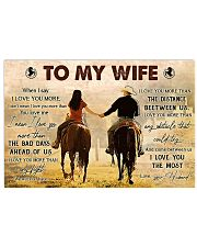 TO MY WIFE Horizontal Poster tile