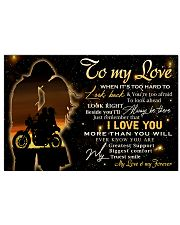 To my love  17x11 Poster thumbnail