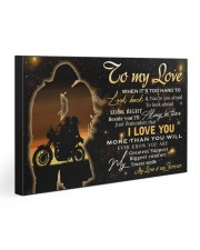 To my love  30x20 Gallery Wrapped Canvas Prints front