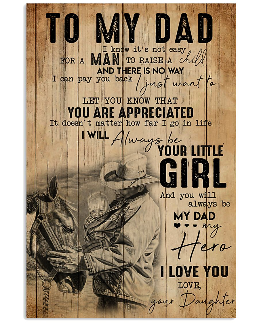 TO MY DAD - MB305 16x24 Poster