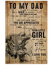 TO MY DAD - MB305 16x24 Poster front