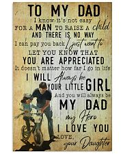 TO MY DAD - MB158 11x17 Poster front
