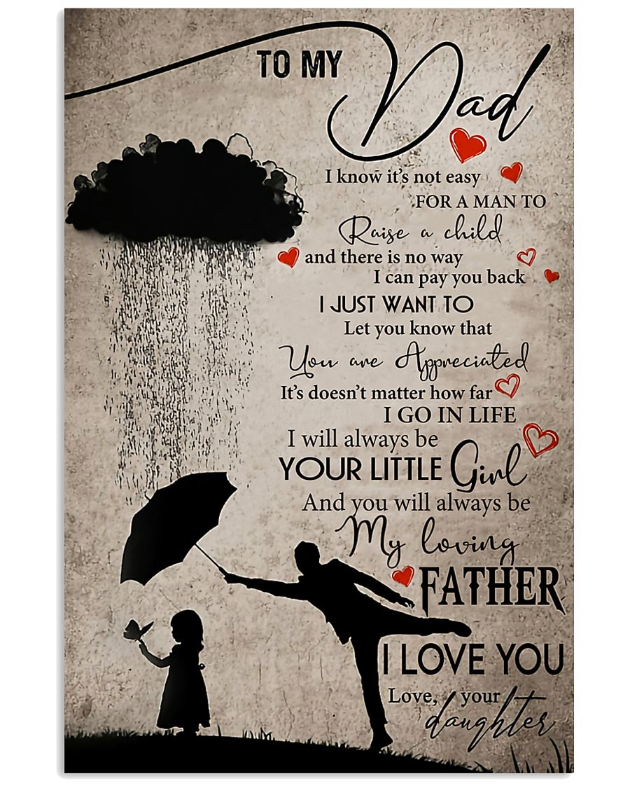 TO MY DAD - MB162 11x17 Poster