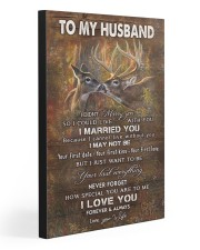 TO MY HUSBAND  20x30 Gallery Wrapped Canvas Prints front