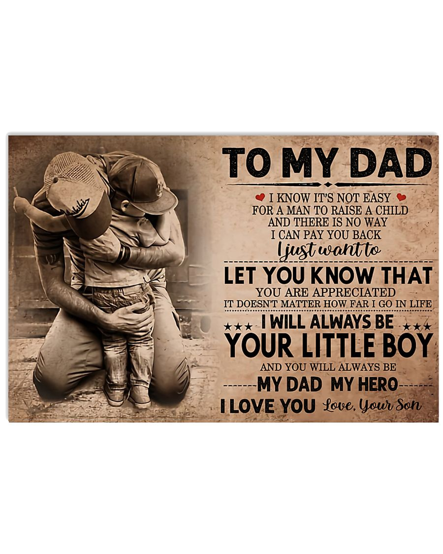 TO MY DAD - MB205 24x16 Poster