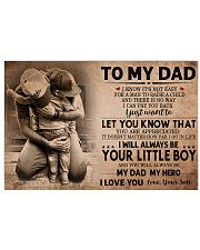 TO MY DAD - MB205 24x16 Poster front