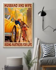 Husband and wife riding partners for life  16x24 Poster lifestyle-poster-1
