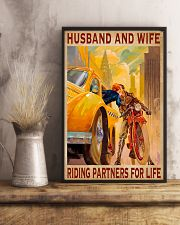 Husband and wife riding partners for life  16x24 Poster lifestyle-poster-3