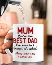 MUM YOU'RE THE BEST DAD I'VE EVER HAD  Mug ceramic-mug-lifestyle-65
