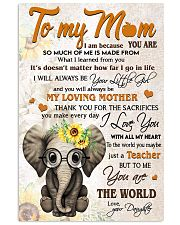 TO MY MOM - TEACHER 24x36 Poster front