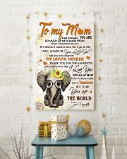 TO MY MOM - TEACHER 24x36 Poster lifestyle-holiday-poster-3