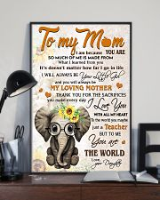 TO MY MOM - TEACHER 24x36 Poster lifestyle-poster-2