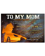 TO MY MOM  17x11 Poster thumbnail