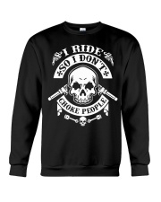 I RIDE SO I DON'T CHOKE PEOPLE - MB324 Crewneck Sweatshirt thumbnail