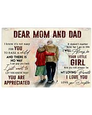 DEAR MOM AND DAD  Horizontal Poster tile