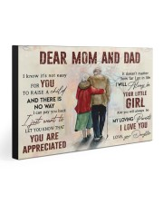 DEAR MOM AND DAD  30x20 Gallery Wrapped Canvas Prints front