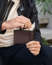 TO MY SON  Mini Wallet aos-mini-bifold-wallet-lifestyle-front-08