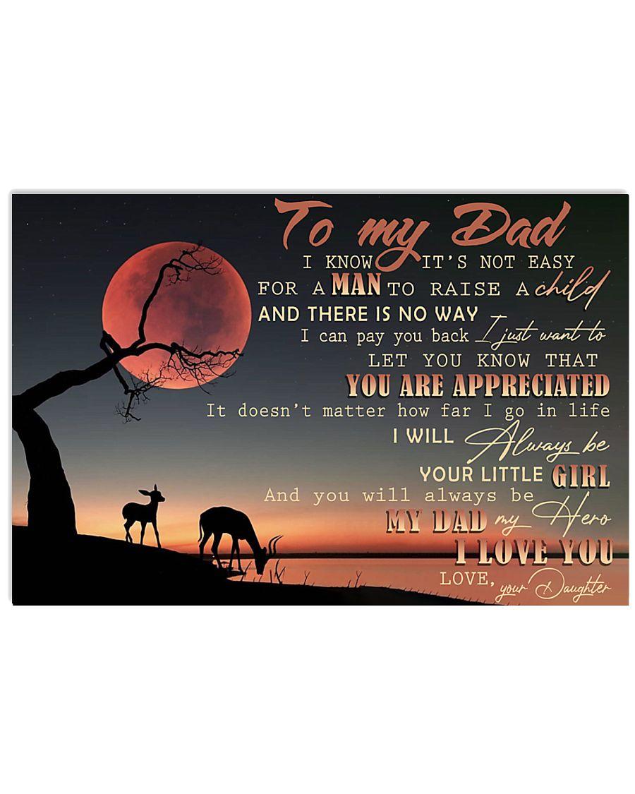 IT'S NOT EASY FOR A MAN TO RAISE A CHILD - MB269 36x24 Poster