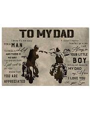 TO MY DAD - BIKER  Horizontal Poster tile