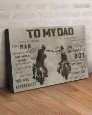 TO MY DAD - BIKER  30x20 Gallery Wrapped Canvas Prints aos-canvas-pgw-30x20-lifestyle-front-07