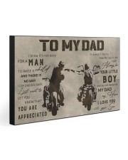 TO MY DAD - BIKER  30x20 Gallery Wrapped Canvas Prints front