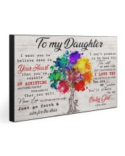 TO MY DAUGHTER - MB376 30x20 Gallery Wrapped Canvas Prints front