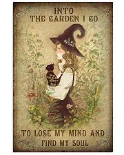 INTO THE GARDEN I GO  Vertical Poster tile