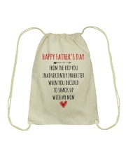 Happy Father's Day - MB28 Drawstring Bag thumbnail