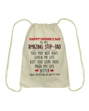 TO MY AMAZING STEPDAD - MB116 Drawstring Bag thumbnail