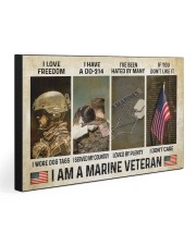I AM A MARINE VETERAN 30x20 Gallery Wrapped Canvas Prints front