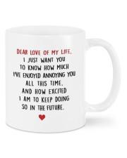 DEAR LOVE OF MY LIFE Mug front