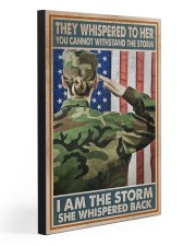 I AM THE STORM  20x30 Gallery Wrapped Canvas Prints front