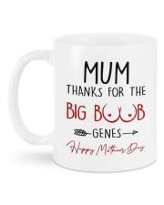THANKS FOR THE BIG BOOBS GENES Mug back