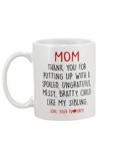 DEAR MOM  Mug back