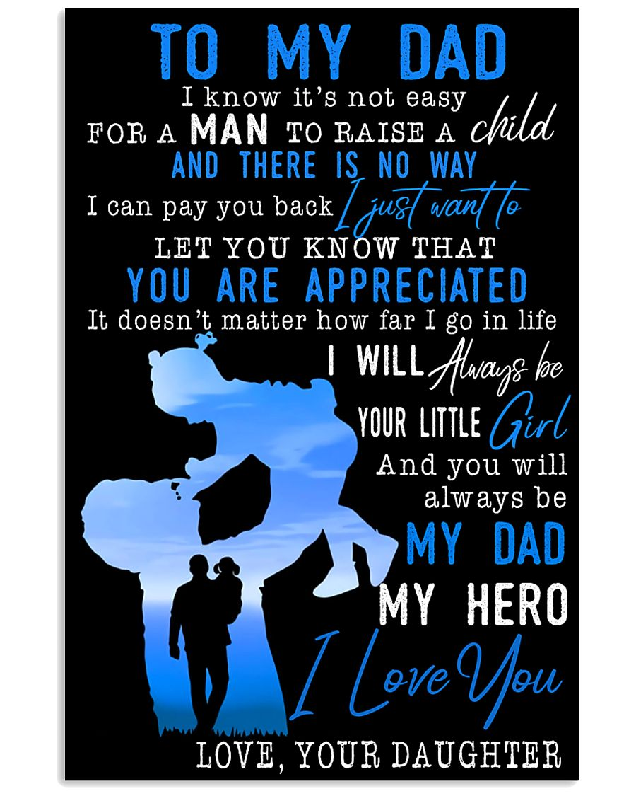 TO MY DAD - MB154 11x17 Poster