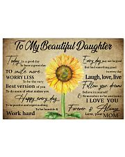 TO MY DAUGHTER - MB363 Horizontal Poster tile