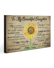 TO MY DAUGHTER - MB363 30x20 Gallery Wrapped Canvas Prints front