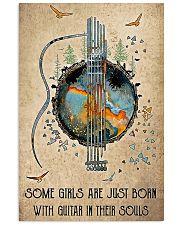 BORN WITH GUITAR IN THEIR SOULS Vertical Poster tile