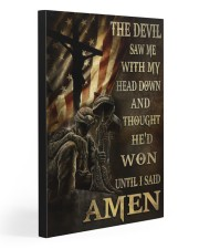 I SAID AMEN 20x30 Gallery Wrapped Canvas Prints front