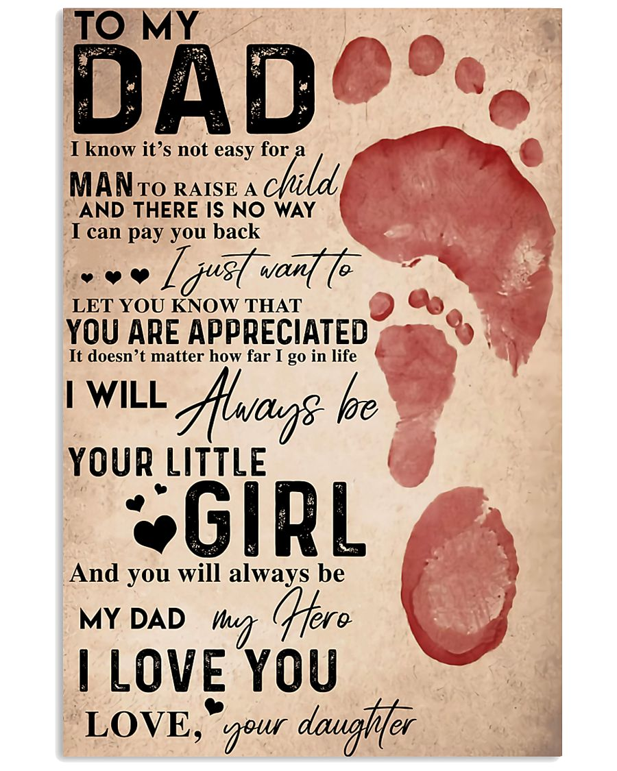 TO MY DAD - MB188 11x17 Poster