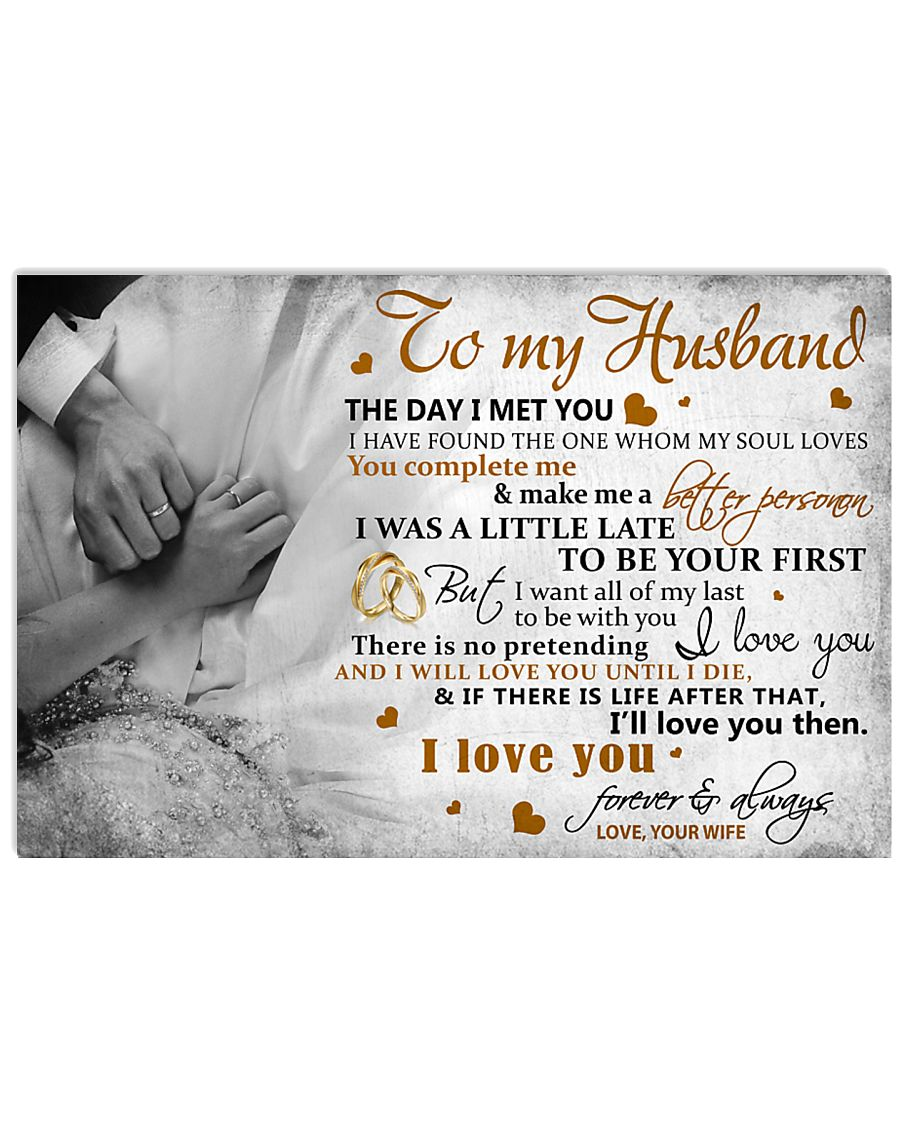 TO MY HUSBAND - MB318 36x24 Poster