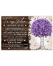 TO MY MUM FROM DAUGHTER 36x24 Poster front
