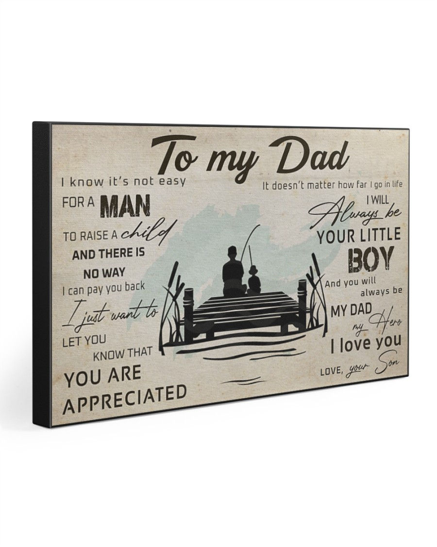 TO MY DAD - FISHING- MB314 30x20 Gallery Wrapped Canvas Prints